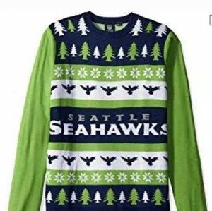 Brand New Seattle Seahawks Holidays Winter Sweater